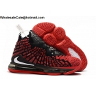 wholesale Nike LeBron 17 Red Black Mens Shoes