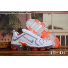Nike Air Vapormax Plus White Grey Orange Mens Shoes