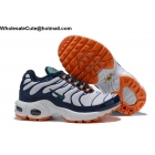 Kids Nike Air Max Plus TN White Midnight Navy Orange