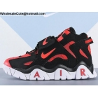 Nike Air Barrage Mid Black Red White Mens Shoes
