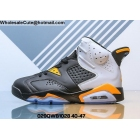 wholesale Air Jordan 6 Retro Black White Orange Mens Shoes