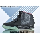 wholesale Mens & Womens Nike Air Yeezy 2 Black Solar Red
