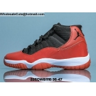 wholesale Mens & Womens Air Jordan 11 Black Red White