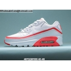 wholesale Undefeated Nike Air Max 90 White Red Mens Shoes