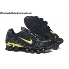 Nike Shox TL Black Yellow Mens Athletic Shoes