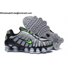 wholesale Nike Shox TL Grey Green Black Mens Athletic Shoes