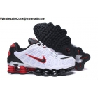 wholesale Nike Shox TL White Black Red Mens Athletic Shoes