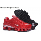 wholesale Nike Shox TL Red Silver Mens Athletic Shoes