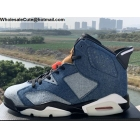 Air Jordan 6 Washed Denim Mens Shoes
