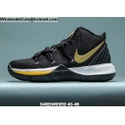 wholesale Nike Kyrie 5 Black Metallic Gold Mens Shoes