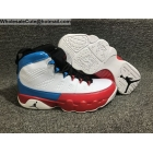 Air Jordan 9 Retro White Red Blue Mens Shoes