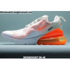 Mens & Womens Nike Air Max 270 White Orange