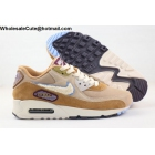 wholesale Mens Nike Air Max 90 Chenille Swoosh Bronze Brown Tan