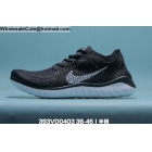 Mens & Womens Nike Free RN Flyknit Black White