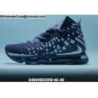 wholesale Mens Nike LeBron 17 Navy Blue Silver