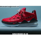 wholesale Mens Nike LeBron 17 Low Red Black