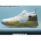 Mens Nike Zoom KD 11 White Gold Yellow