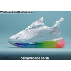 Womens Nike Air Max 720 Plus 270 White Rainbow