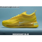 wholesale Mens & Womens Nike Air Max 720 Plus 97 All Yellow