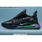 Mens & Womens Nike Air Max 720 Plus 270 Black Rainbow