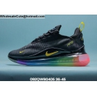 Mens & Womens Nike Air Max 720 Plus 270 Black Gold Rainbow