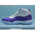 Mens Air Jordan 11 Retro Lakers Kobe White Purple