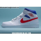 wholesale Mens & Womens Air Jordan 1 Mid White Red Blue