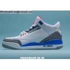 Mens & Womens Air Jordan 3 White Blue Cement