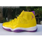Mens Air Jordan 11 Lakers Kobe Yellow Purple
