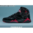 Mens & Womens Air Jordan 7 Patent Leather Black Red