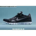 wholesale Womens Nike Free 3.0 Black White