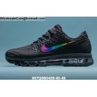 wholesale Mens Nike Air Max 2020 Black Rrainbow Swoosh