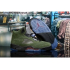 wholesale Mens Air Jordan 5 Army Green Brown Black