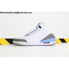 wholesale Mens Air Jordan 3 UNC White Valor Blue