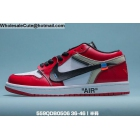 wholesale Mens & Womens Off White Air Jordan 1 Low Red White Black