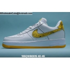 wholesale Mens Nike Air Force 1 Low Rose Print White Yellow