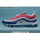 wholesale Mens & Womens Nike Air Max 97 White Red Blue