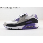 Mens Nike Air Max 90 White Purple Grey Black