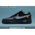 wholesale Mens & Womens Off White Nike Air Force 1 Low Black