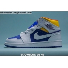 Mens & Womens Air Jordan 1 Mid White Blue Yellow