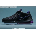 wholesale Mens Nike LeBron 17 Low Black Purple