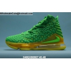 Mens Nike LeBron 17 Green Yellow