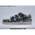 wholesale Mens & Womens Travis Scott x Nike SB Dunk Low Black Beige
