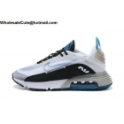 wholesale Mens Nike Air Max 2090 White Black Blue