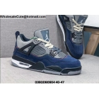 Mens Air Jordan 4 Navy Blue Gey Black