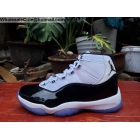 wholesale Mens Air Jordan 11 25th Anniversary White Black Silver