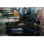 Mens Air Jordan 5 Black Me...