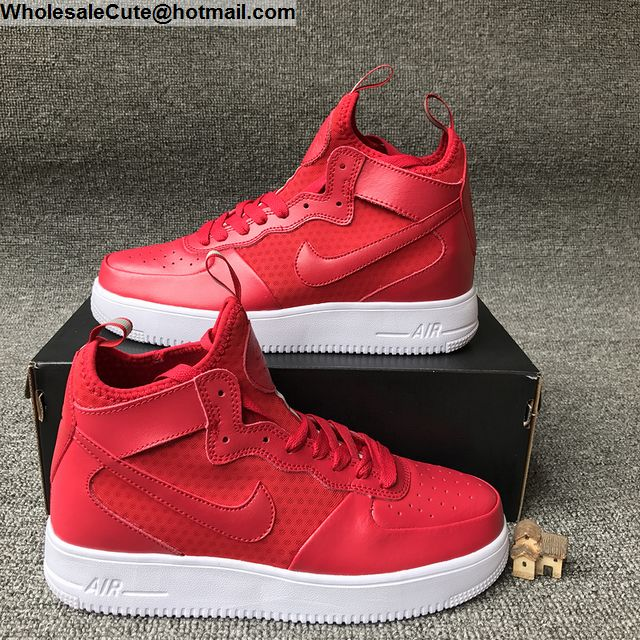 Nike Air Force 1 UltraForce Mid Red