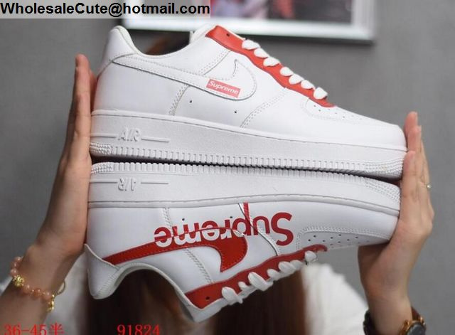 Supreme Nike Air Force 1 Low White Red