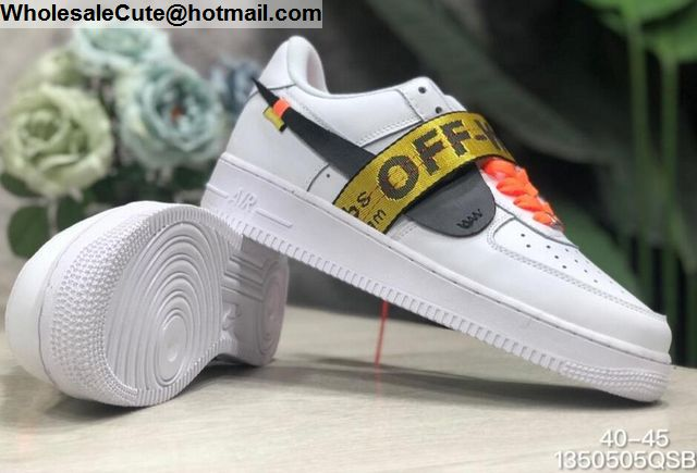 Off White Nike Air Force 1 White Black